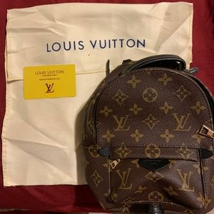 Authentic Louis Vuitton Monogram Mini Backpack